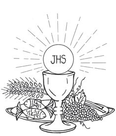 images to colour of corpus christi feast - Google Search Catholic Communion, First Holy Communion, Catholic Crafts, Catholic Kids, Coloring Book Art, Colouring Pages, Altar, Church Banners Designs, Jesus Painting