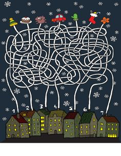 Find Christmas Maze Game Task Each House stock images in HD and millions of other royalty-free stock photos, illustrations and vectors in the Shutterstock collection. Maze Games For Kids, Word Puzzles For Kids, Mazes For Kids Printable, Maze Puzzles, Free Printable, Christmas Maze, Maze Worksheet, Worksheets, Numbers For Kids