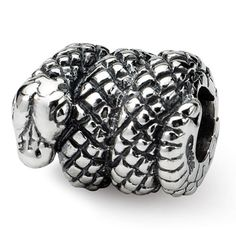 Sterling Reflections Snake Bead