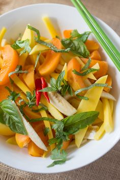 Vietnamese Fruit Salad with Coconut Dressing