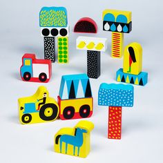 Raitti Stacking Blocks by Aino-Maija Metsola for Marimekko