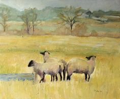 Fayetteville Sheep Painting by Pat White