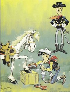 Lucky Luke #belgium belgian comic strip art