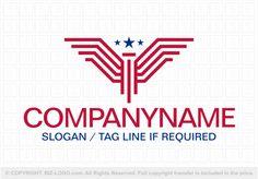 Pre-designed logo 6570: Linear Eagle Logo