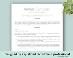 To get the job, you a need a great resume. The professionally-written, free resume examples below can help give you the inspiration you need to build an impressive resume of your own that impresses… Template Cv, Simple Resume Template, Modern Resume Template, Resume Templates, Cover Letter Design, Cover Letter Template, Marketing Resume, Sales Resume, Resume Design