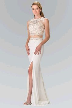 Make a Bold statement in this white 2 piece prom dresses. A sexy 2018 prom.  simplyfabdress.com dad59b97a