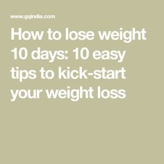 How to eat less to lose weight fast