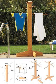 Pool Towel Rack Ideas pvc towel rack This Diy Towel Tree Is A Simple Solution To Keep Wet Towels And Bathing Suits Pool Towel Storagepool