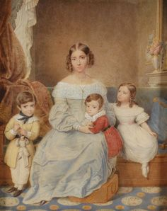 Neapolitan Court Lady by Jacques Louis Comte,1841
