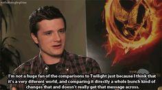 Josh on Twilight comparisons.