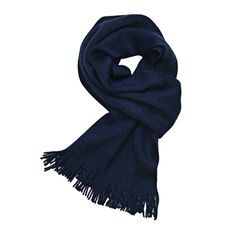 [$21.49] Xiaomi Solid Color Unisex Wool Scarf(Dark Blue)