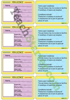 Pen Licences | Teaching Resources - Teach Starter