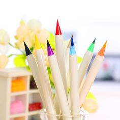 1 X kawaii platinum writing brush calligraphy cartoon pen color soft brush pens stationery canetas escolar