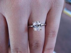 simple cushion cut solitaire. This is perfect, exactly what I want<3