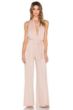 Model wears Halterneck Jumpsuit
