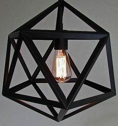 Industrial Diamond Pendant Lamp