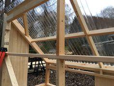 Building a solar lumber kiln - Pat's Home DIY Wood Kiln, Kiln Dried Wood, Solar Kiln, Hardwood Lumber, Floor Framing, Roof Panels, Woodworking Workshop, Milling, Greenhouses