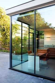 Modern Conservatory, Garage To Living Space, Pergola, External Doors, House Extensions, California Homes, Open Plan Living, Home Reno, House Goals