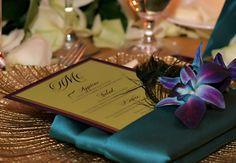 Peacock Theme Wedding. Amy Mancuso Events