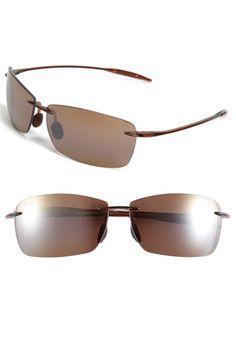 2e12540c7b Maui Jim  Lighthouse - PolarizedPlus®2  65mm Rimless Sunglasses available  at  Nordstrom