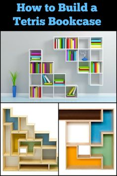 This Tetris Themed Bookshelf Doesn't Only Look Cool, But is Also a Great Storage Solution