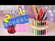 DIY SCHOOL SUPPLIES & DESK ORGANIZATION • BACK TO SCHOOL ❤ mit Lisa Maria Moór! ☺️ - YouTube