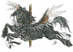 Hellhorse Carousel by shiftyferret