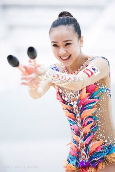 Yeon Jae Son (Korea) got 18.300 points for CLUBS in all-around finals at Olympic Games 2016
