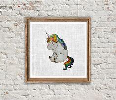 ANIMAL PRINT: UNICORN Unicorn Print Unicorn Art by SITMPrintables