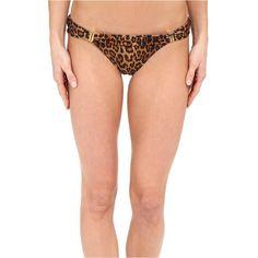 Vix Bia Full Bottom (Murad) Women's Swimwear ($60) ❤ liked on Polyvore featuring swimwear, bikinis, bikini bottoms, gold, foldover bikini bottom, vix bikini, bikini bottom swimwear, vix swim wear and fold over bikini bottom
