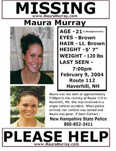 MISSING from NEW HAMPSHIRE
