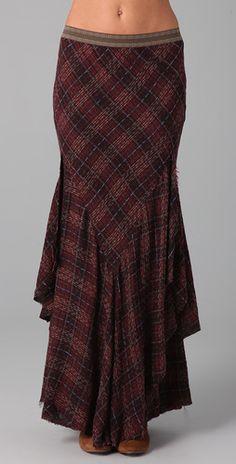 long skirt with an edge