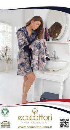 'LOTUS' Organic, Bathrobe, Towel, Organik, Bornoz, Havlu www.ecocotton.com.tr