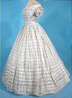 1830s/1840s Muslin Summer Gown