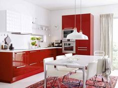 Red Metod Kitchen by Ikea