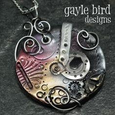 Steampunk Clay Pendant/Ornament | JewelryLessons.com