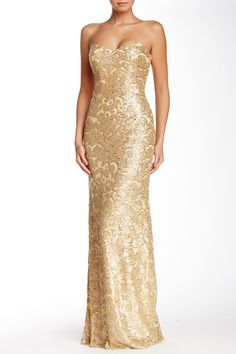 Strapless Sequin Gown by La Femme on @HauteLook