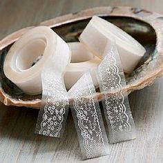 Set of 3 Lace Tapes for DIY decoration of tealights