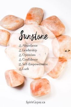 crystal healing Sunstone is a great crystal for those who are career driven. This crystal has a powerful ability to brighten and strengthen the energy of those who choose to hold it. Crystals Minerals, Rocks And Minerals, Crystals And Gemstones, Stones And Crystals, Orange Crystals, Gem Stones, Crystal Guide, Crystal Magic, Chakra Healing