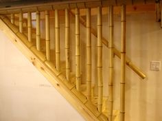 Bamboo Guard Rails going down stairs.