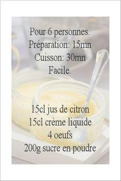 recette crème au citron