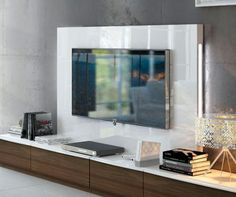 Contemporary wall storage system with low TV unit and back panel tv unit Fenicia Contemporary 4 Drawer TV Unit and Back Panel with Lighting Low Tv Unit, The Unit, Floating Wall Unit, Wall Storage Systems, Modern Tv Units, Living Room Tv Unit, Dinner Room, Extra Image, New Homes