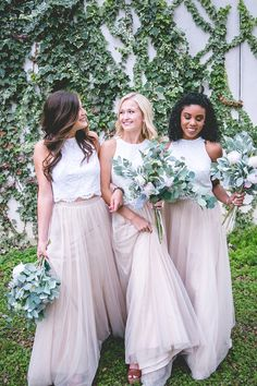 Skylar Bridesmaid Skirt in Champagne Tulle