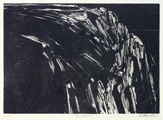 Black Mountain by Edmond Casarella, woodcut
