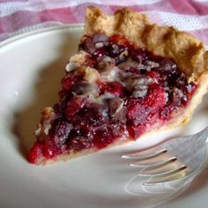 Get the recipe for this vegan Cranberry Walnut Chocolate Pie