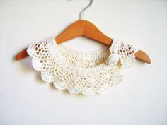 FREE SHIPPING Collar Necklace Handmade crochet by NMNHANDMADE, $28.71