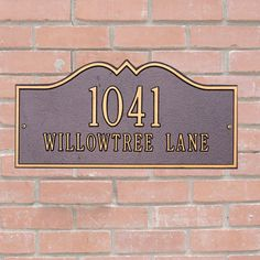 Personalized Address Plaque, Customizable House Marker, Custom Home Decor