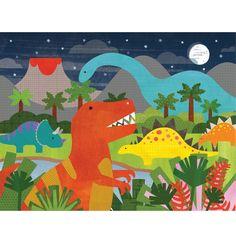 Dinosaur Kingdom Floor Puzzle   Petit Collage