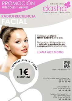 """Promoción Radiofrecuencia Facial"""" consigue un efecto tensor duradero!"""