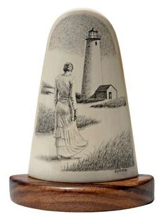 """""""The Lighthouse Keeper's Wife"""" - by D. Smith ~ Scrimshaw"""